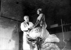 Theresienstadt, Czechoslovakia, 1944, A sculptor in the ghetto, from a propaganda film. 6553199219375904483.jpg