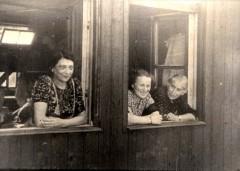 Theresienstadt, Czechoslovakia, 1944, Women in the window of a hut, from a propaganda film- 16052091664449384124.jpg
