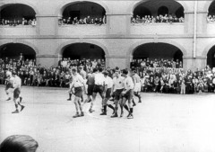 Theresienstadt, Czechoslovakia, 1944, A soccer match in the ghetto, taken from a propaganda film. 10617133359276766821.jpg