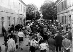 Theresienstadt, Czechoslovakia, 1944, A street scene, taken from a propaganda film. 3932877496128494093.jpg