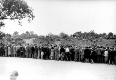 Theresienstadt, Czechoslovakia, People watching a football game, 1944. 13353544414897120368.jpg