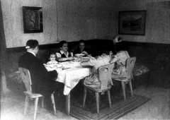 Theresienstadt, Czechoslovakia, 1944, The Kozower family in the home of the deputy director of the Judenrat, from a propaganda film. 16304668956267192533.jpg