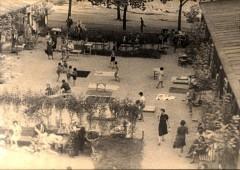 Theresienstadt, Czechoslovakia, 1944, Recreation area in the ghetto (taken from a propaganda film). 3198631535762506489.jpg