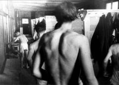 Theresienstadt, Czechoslovakia, 1944, Public showers, taken from a propaganda film-6393614809478653584.jpg