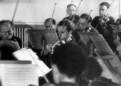 Theresienstadt, Czechoslovakia, The orchestra in the ghetto, from a propaganda film, 1944. - 11496725120617804908.jpg