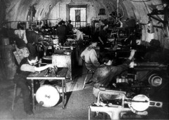 Theresienstadt, Czechoslovakia, 1944, A workshop in the ghetto - from a propaganda film. 8252857852426340963.jpg