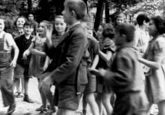 Theresienstadt, Czechoslovakia, Children wearing Jewish badges, 1944. 38033757491030397.jpg