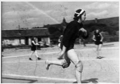 Theresienstadt, Czechoslovakia, Women playing handball.jpg