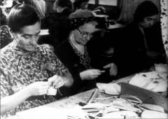 Theresienstadt, Czechoslovakia, 1944, Women at work, taken from a propaganda film. 9427807982189238905.jpg